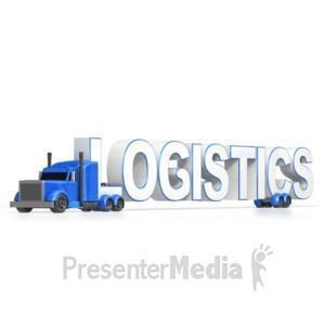 ID# 4273 - Semi Truck Logistics  - Presentation Clipart
