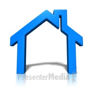 ID# 4281 - House Block Outline - Presentation Clipart