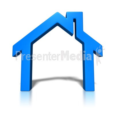 House Block Outline PowerPoint Clip Art