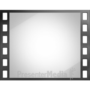ID# 4289 - Shiny Film Slide - Presentation Clipart