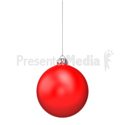 Single Red Christmas Ornament  Holiday Seasonal Events  Great