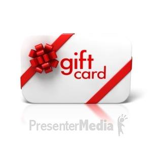ID# 4313 - Gift Card Bow Ribbon Front - Presentation Clipart