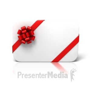 ID# 4314 - Blank Christmas Card Front - Presentation Clipart