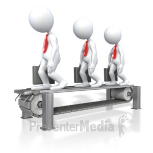 ID# 4325 - Business Assembly Line  - Presentation Clipart