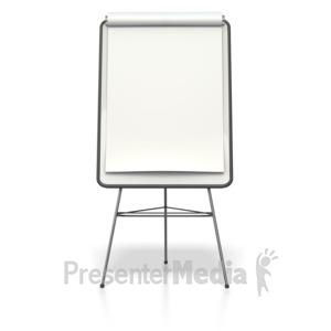 ID# 4333 - Blank Presentation Flip Board  - Presentation Clipart