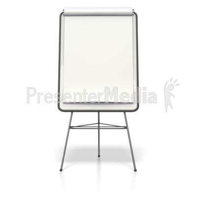 Blank Presentation Flip Board  PowerPoint Clip Art