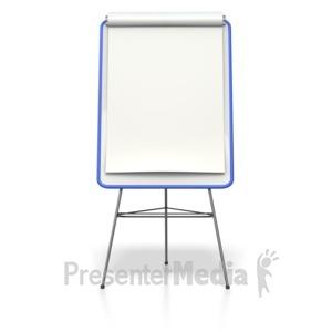 ID# 4334 - Blank Colored Presentation Flip Board  - Presentation Clipart