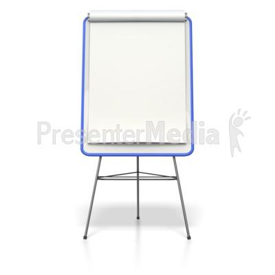 Blank Colored Presentation Flip Board  PowerPoint Clip Art