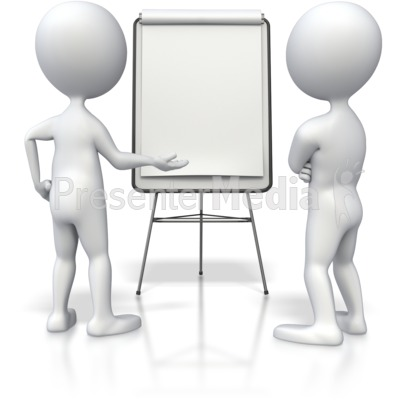Stick Figure Flipboard Discussion  PowerPoint Clip Art