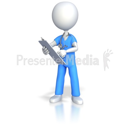 Presenter media powerpoint templates 3d animations and clipart id 4344 nurse doctor surgeon charting presentation clipart toneelgroepblik Images