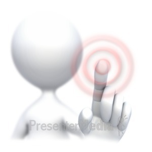 ID# 4357 - Stick Figure Screen Press  - Presentation Clipart