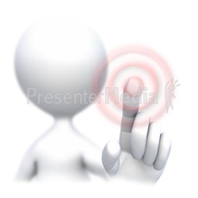 Stick Figure Screen Press  PowerPoint Clip Art