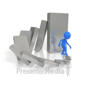 ID# 4361 - Cause And Effect Dominoes  - Presentation Clipart