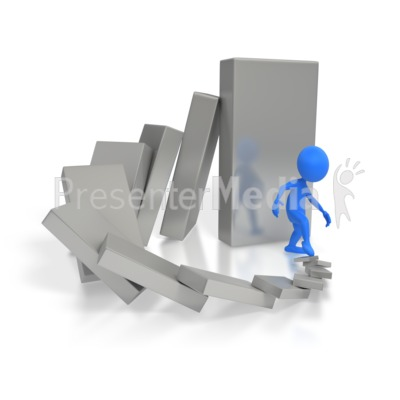 Cause And Effect Dominoes  PowerPoint Clip Art