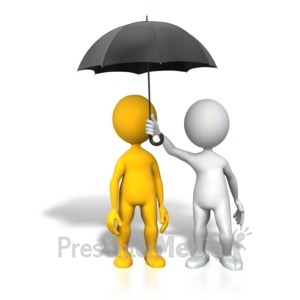 ID# 4365 - Protection Insurance Umbrella - Presentation Clipart