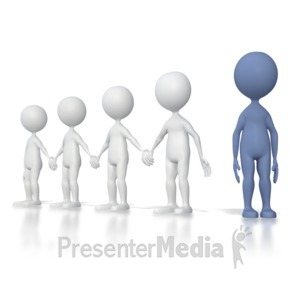 ID# 4404 - Outsider Standing Alone - Presentation Clipart