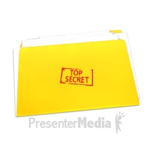 ID# 4422 - Top Secret Folder Documents - Presentation Clipart