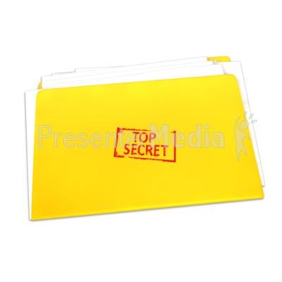 Top Secret Folder Documents PowerPoint Clip Art