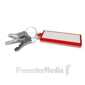 ID# 4428 - Three Keys With Tag - Presentation Clipart