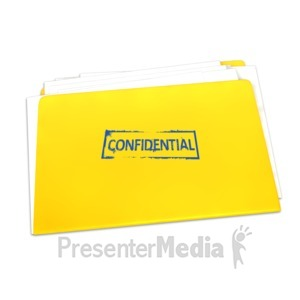 ID# 4429 - Confidential Folder Documents - Presentation Clipart