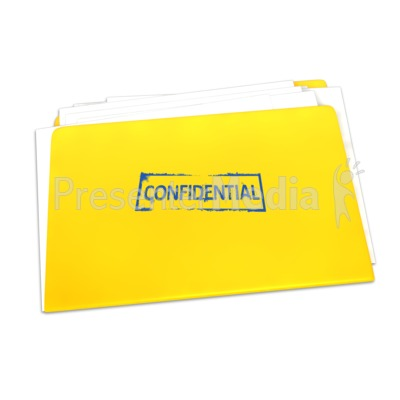 Confidential Folder Documents PowerPoint Clip Art