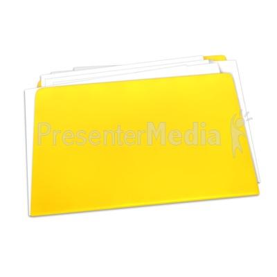 Blank Yellow Folder Documents PowerPoint Clip Art