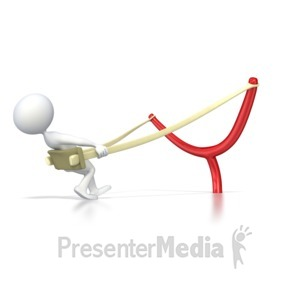 ID# 4431 - Stick Figure Ready to Launch  - Presentation Clipart