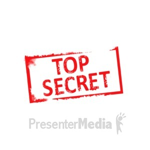 ID# 4434 - Top Secret Rubber Stamp - Presentation Clipart