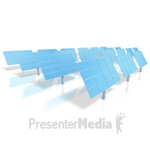ID# 4441 - Solar Energy Power Panels  - Presentation Clipart