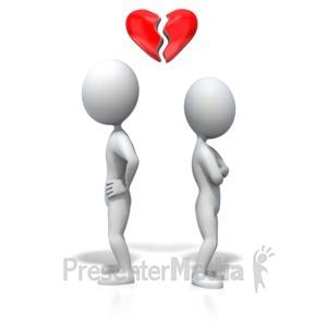 ID# 4444 - Stick Figure Heartbreak - Presentation Clipart