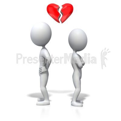 Stick Figure Heartbreak PowerPoint Clip Art