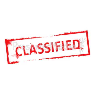 Classified Clip Art Cliparts