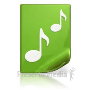 ID# 4455 - Music Meida File  - Presentation Clipart