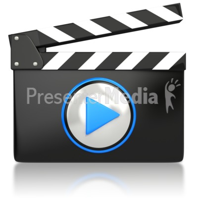 Movie Video Media Icon  PowerPoint Clip Art
