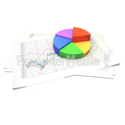 Circular Pie Chart Data Sheet PowerPoint Clip Art