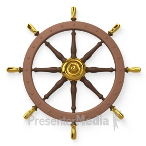 ID# 4483 - Ship Wheel Helm  - Presentation Clipart