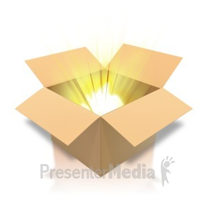 ID# 4510 - Brown Cardboard Box Light - Presentation Clipart