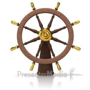 ID# 4519 - Ships Helm Wheel - Presentation Clipart