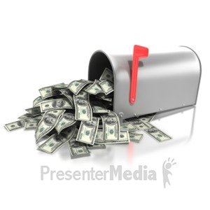 ID# 4533 - Mailbox Money Overflow - Presentation Clipart