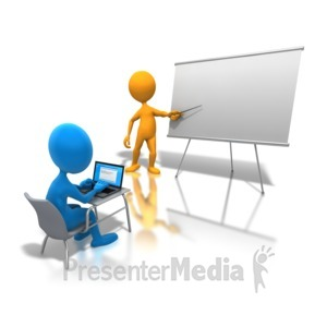 ID# 4549 - Online Classroom Learning - Presentation Clipart