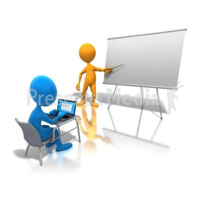 virtual classroom student and teacher clipart