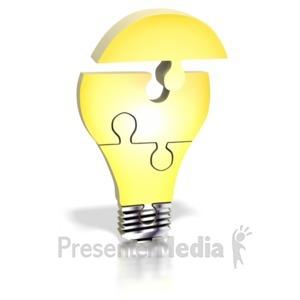 ID# 4578 - Light Bulb Puzzle Assemble - Presentation Clipart