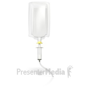 ID# 4598 - Medical infusion drip  - Presentation Clipart