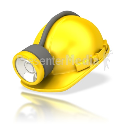 Miners Helmet with Lamp PowerPoint Clip Art