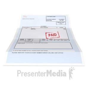 ID# 4691 - Bill Paid - Presentation Clipart