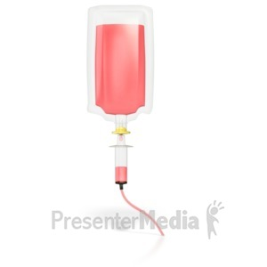 ID# 4695 - Medical Blood Infusion Drip  - Presentation Clipart