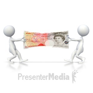ID# 4731 - British Pound Tug of War  - Presentation Clipart