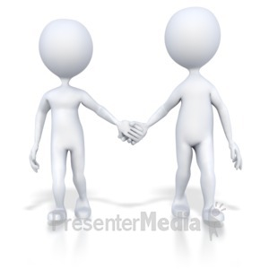 ID# 4735 - Couple Holding Hands Walking - Presentation Clipart
