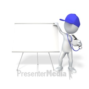 ID# 4744 - Coach With Whiteboard - Presentation Clipart