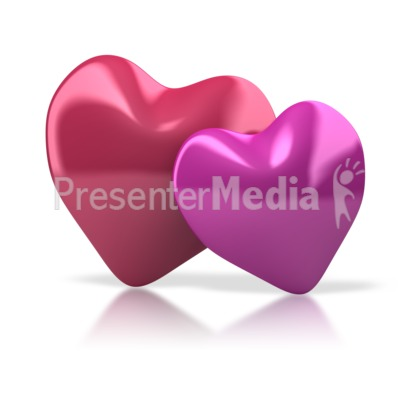 Pair Of Hearts PowerPoint Clip Art